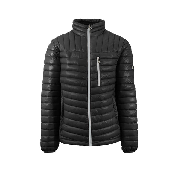 Spire By Galaxy Men's Lightweight Puffer Jackets-Black-Silver-Small-Daily Steals