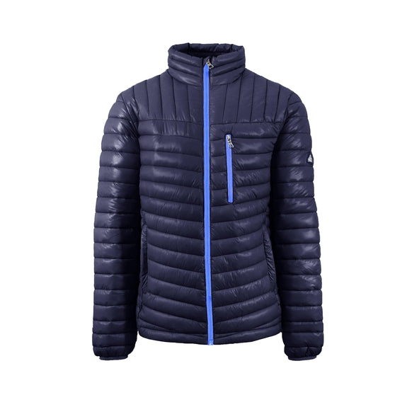 Spire By Galaxy Men's Lightweight Puffer Jackets-Navy-Blue-Small-Daily Steals