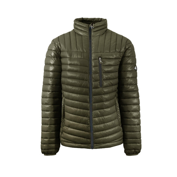 Spire By Galaxy Men's Lightweight Puffer Jackets-Olive-Black-Small-Daily Steals