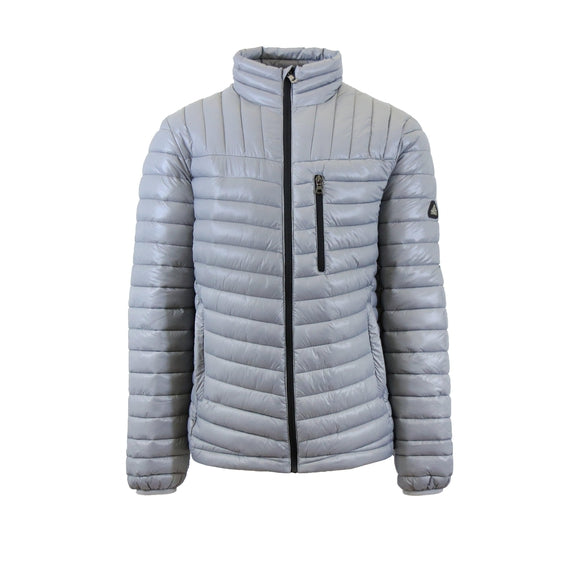 Spire By Galaxy Men's Lightweight Puffer Jackets-Silver-Black-Small-Daily Steals