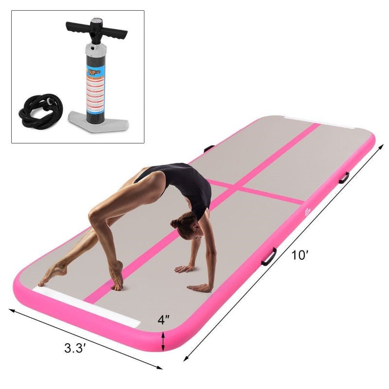 Air Track Inflatable Gymnastics Tumbling Floor Mats with Pump-Daily Steals