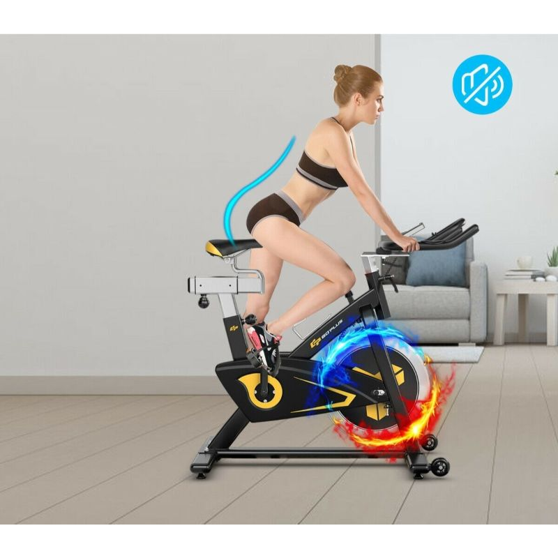 Stationary Belt Drive Magnetic Exercise Bike