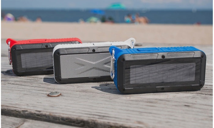 Party Solar Portable, Haut-parleur Bluetooth - Options blanches, rouges et bleues
