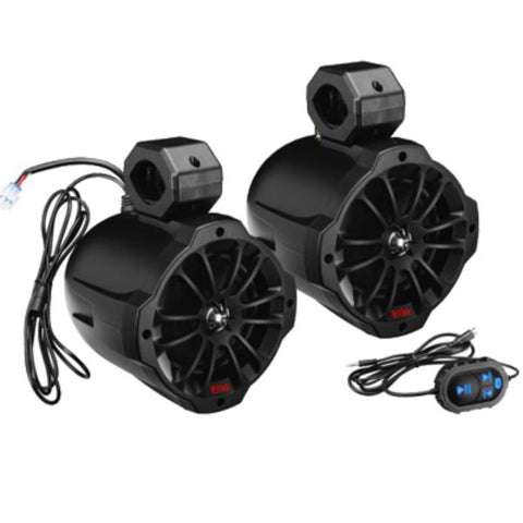"Daily Steals-Waketower Spkrs (4) 6.5"" w/Bluetooth+Amp By Boss Audio-Speakers-"