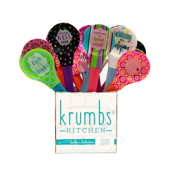 3 Pack Krumbs Kitchen Sally's Selection Silicone Spoons-Daily Steals