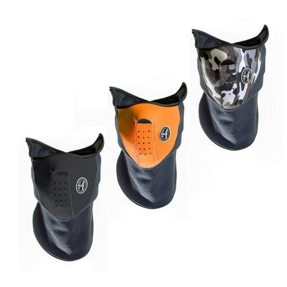 Sport Force Neoprene Neck and Face Mask - 3 Pack-Black, Orange, Camo-Daily Steals