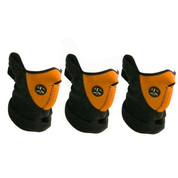 Sport Force Neoprene Neck and Face Mask - 3 Pack-Orange-Daily Steals