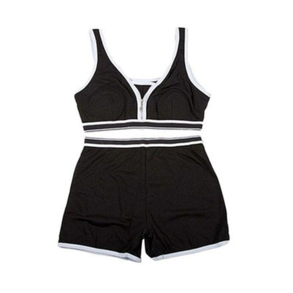 Sports Bra Top and Boyshort Set-Black-Set of 1-S-Daily Steals