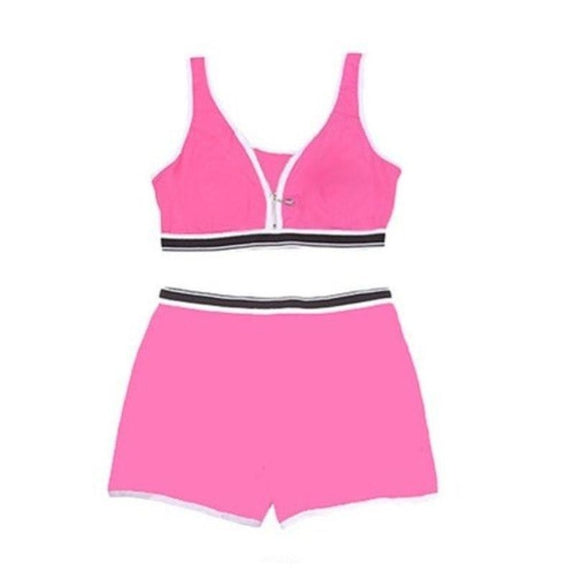 Sports Bra Top and Boyshort Set-Pink-Set of 1-S-Daily Steals