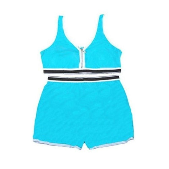 Sports Bra Top and Boyshort Set-Blue-Set of 1-L-Daily Steals