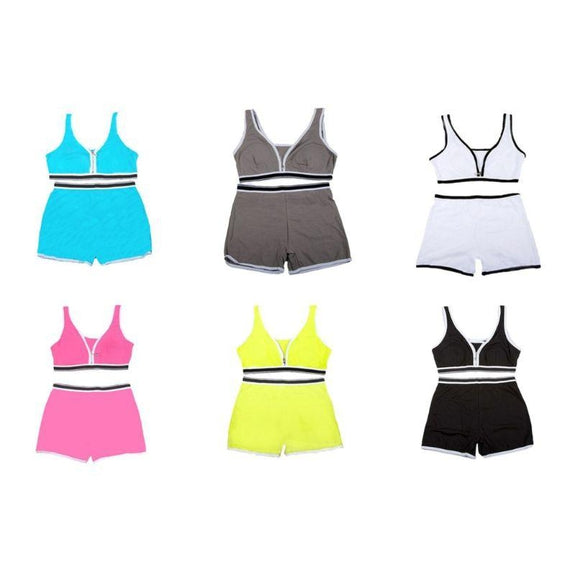 Sports Bra Top and Boyshort Set-Daily Steals