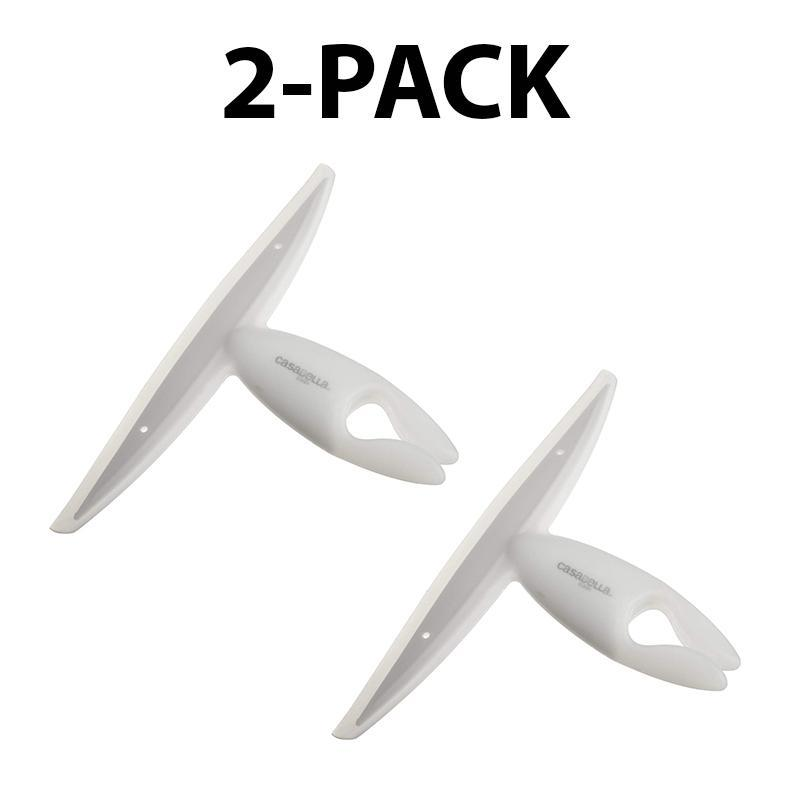 Casabella Clip on Silicone Squeegee, White - 2 Pack-Daily Steals