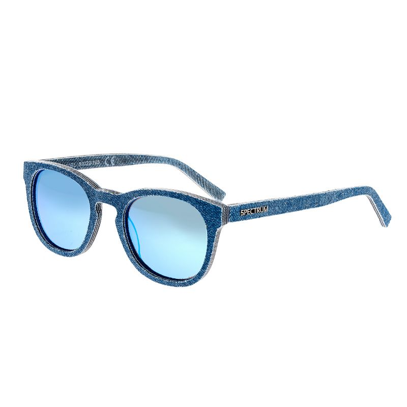 Spectrum North Shore Denim Polarized Unisex Sunglasses 51/22/139-Blue-Daily Steals
