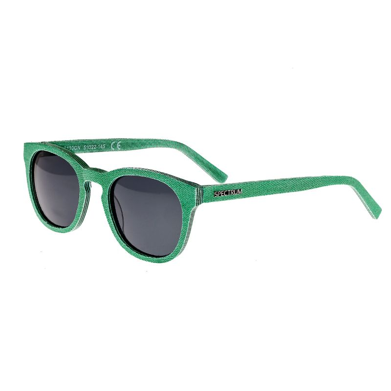 Spectrum North Shore Denim Polarized Unisex Sunglasses 51/22/139-Green-Daily Steals