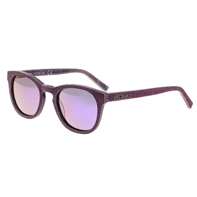 Spectrum North Shore Denim Polarized Unisex Sunglasses 51/22/139-Purple-Daily Steals
