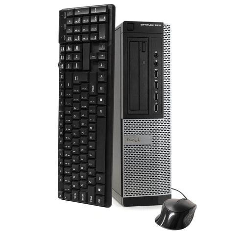 Dell 7010 Desktop i5 Quad Core 3.2 GHz 8GB RAM, 500GB HDD Win 10 Pro Keyboard Mouse WiFi-Daily Steals