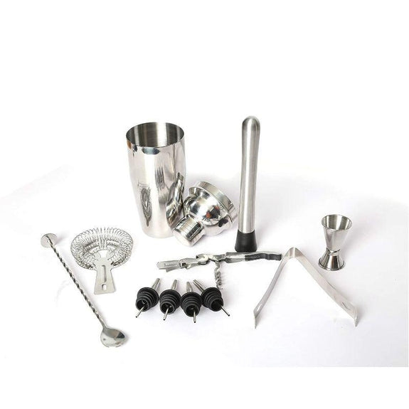 Stainless Steel 10 Piece Bartender Kit-Home Bar Tools Set-