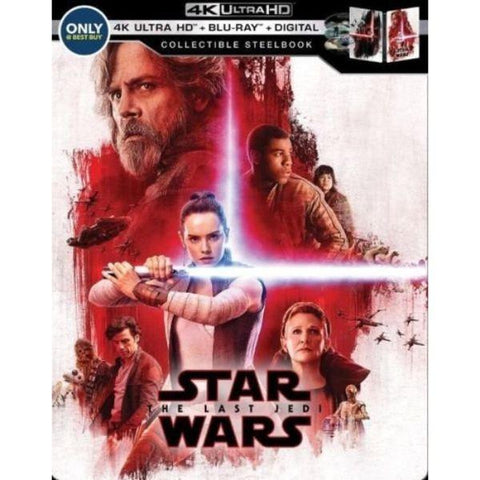 Star Wars:The Last Jedi Collectible Steelbook (4K UHD Blu-Ray + Blu-Ray + Digital)-Daily Steals