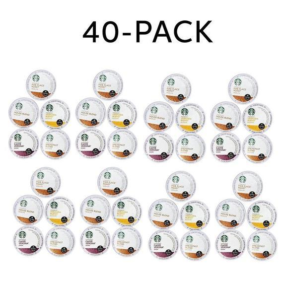 Daily Steals-Starbucks Variety K-Cups pour Keurig Brewers - 20 ou 40 Pack-Foods-40 pack-