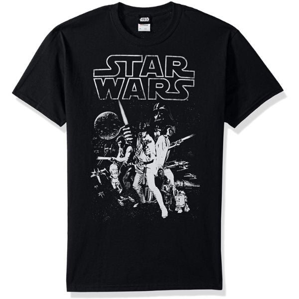 Star Wars Men's Official 'Poster' Design Performance Graphic Tee-Black-2XL-Daily Steals