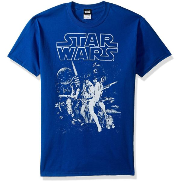 Star Wars Men's Official 'Poster' Design Performance Graphic Tee-Royal-3XL-Daily Steals