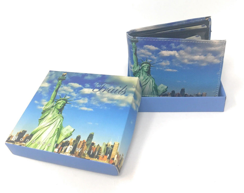 Bifold Wallets With Printed Designs - Comes in Gift Box-STATUE OF LIBERTY-Daily Steals