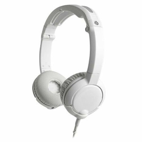 Daily Steals-SteelSeries Flux Gaming Headset Stereo Headphones for PC, Mac, & Mobile (White)-Headphones-