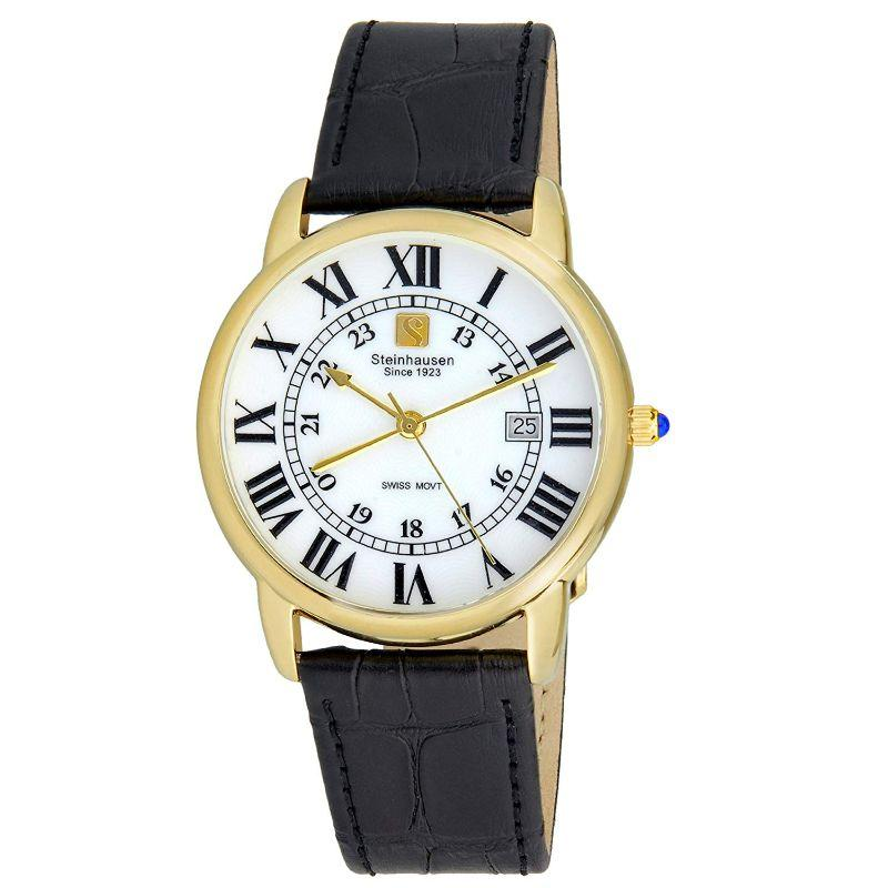 Steinhausen Delmonte White Dial Gold Tone Men's Watch S0720-Daily Steals