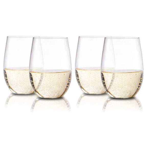Stemless 16oz Wine Glasses by En Soiree - Set Of 4-