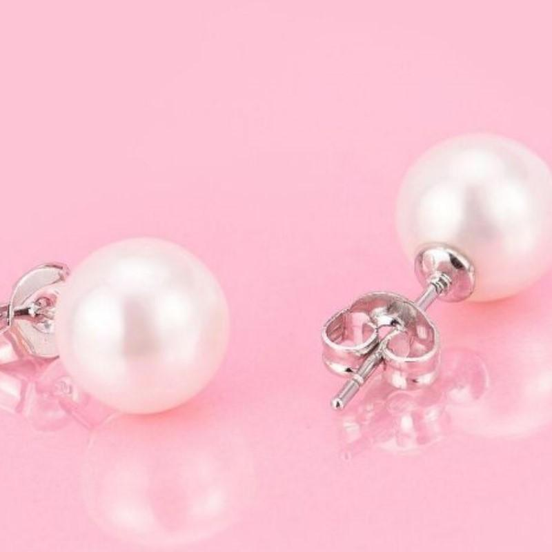 Sterling Silver Freshwater Pearl Earrings-