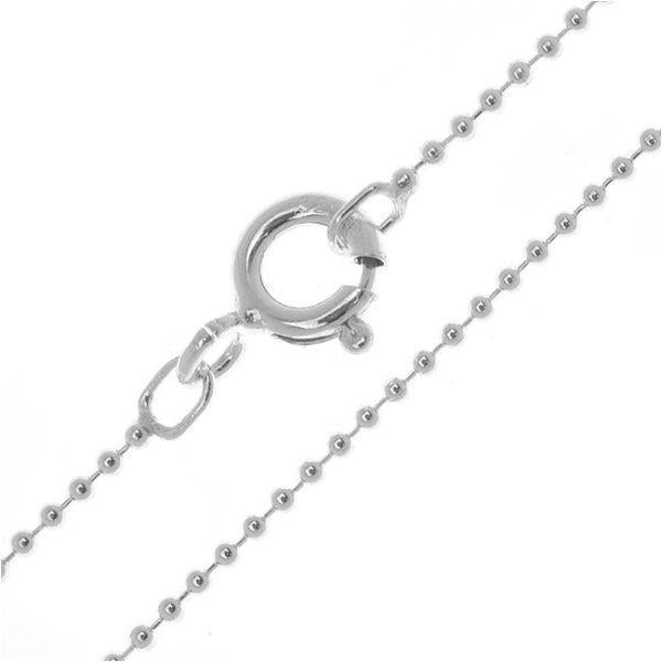 Daily Steals-Sterling Silver Italian Fine Necklaces-Jewelry-16 inch-Ball-