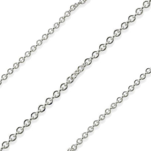Daily Steals-Sterling Silver Italian Fine Necklaces-Jewelry-16 inch-Cable-