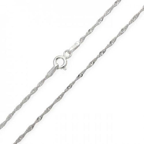 Daily Steals-Sterling Silver Italian Fine Necklaces-Jewelry-16 inch-Singapore-