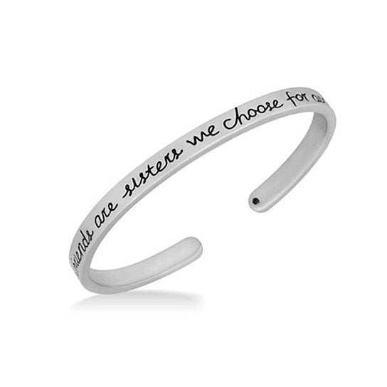 "Daily Steals-Jewelry Gift - 12 Styles-Jewelry-Sterling Silver ""Girlfriends"" Cuff-"