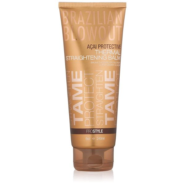 Brazilian Blowout Acai Protective Thermal Straightening Balm, 8 Oz-Daily Steals