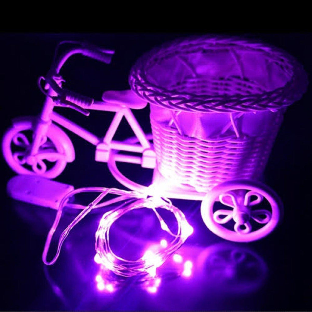 2M LED String of 20 LED Lights Waterproof for Outdoor Use Mood and Patio Lighting-Purple-Daily Steals