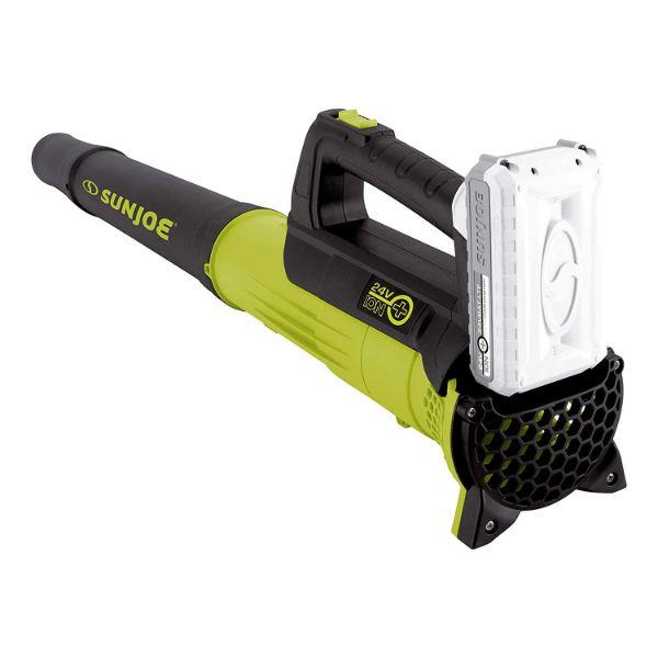 Daily Steals-Sun Joe 24-Volt iON+ 2.0-Ah Cordless Compact Turbine Jet Blower, Green-Outdoors and Tactical-