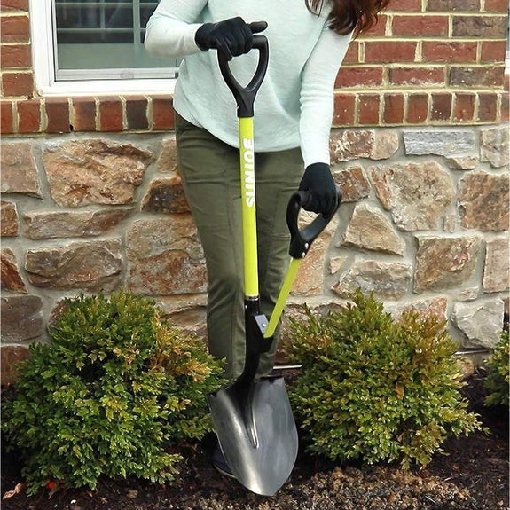 Sun Joe Shovelution 44-in Round Point D-Handle Digging Shovel-Daily Steals