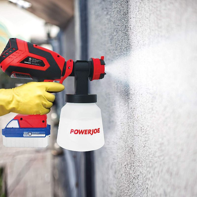 Sun Joe 24-Volt 4.0-Amp Cordless HVLP Handheld Paint Sprayer-Daily Steals