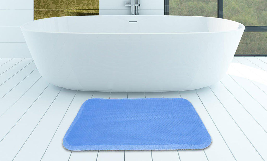 Daily Steals-Super-Soft Memory Foam Bath Mat 17x24 Inches-Home and Office Essentials-Blue-1 pack-