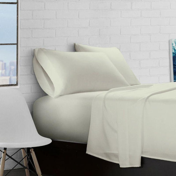 Super Soft Triple Brushed Microfiber - 4 Piece Sheet Set-Sage-Full-