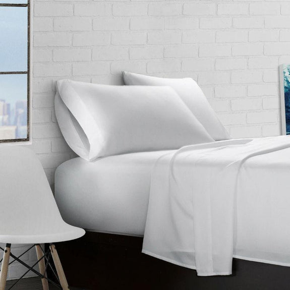 Super Soft Triple Brushed Microfiber - 4 Piece Sheet Set-White-Full-