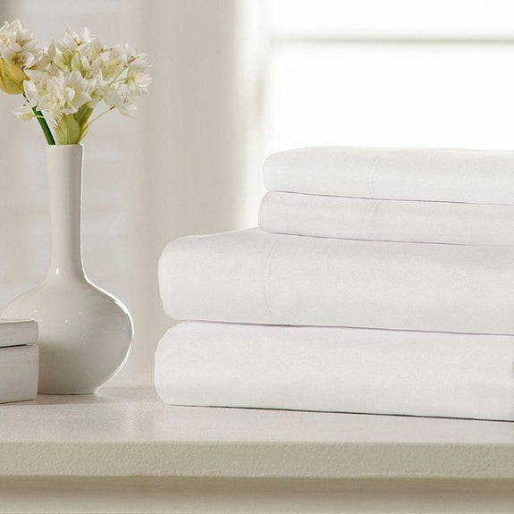 Super Soft Triple Brushed Microfiber - 4 Piece Sheet Set-Aqua-Twin-