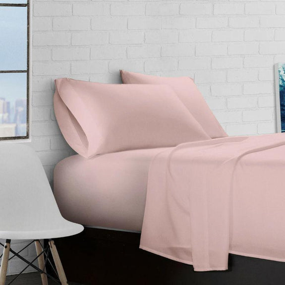 Super Soft Triple Brushed Microfiber - 4 Piece Sheet Set-Rose-Full-
