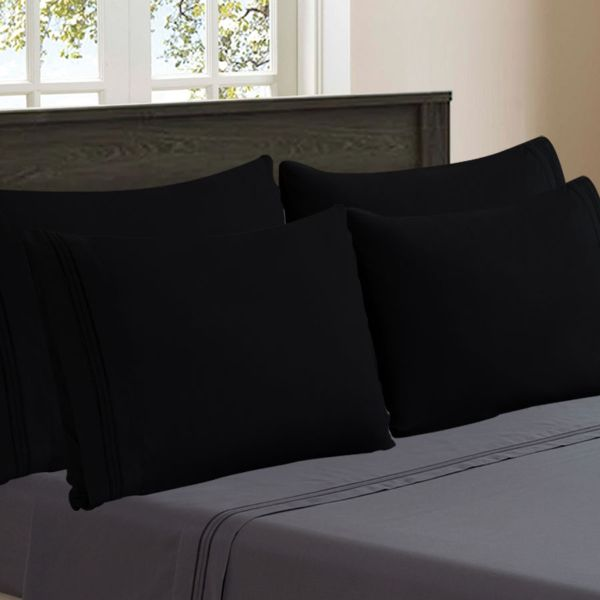 Super Silky Soft and Breathable Fabric Pillowcases - 4 Pack-Daily Steals