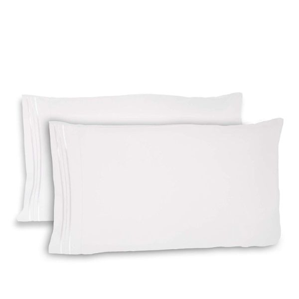 Super Silky Soft and Breathable Fabric Pillowcases - 4 Pack-White-Queen-Daily Steals