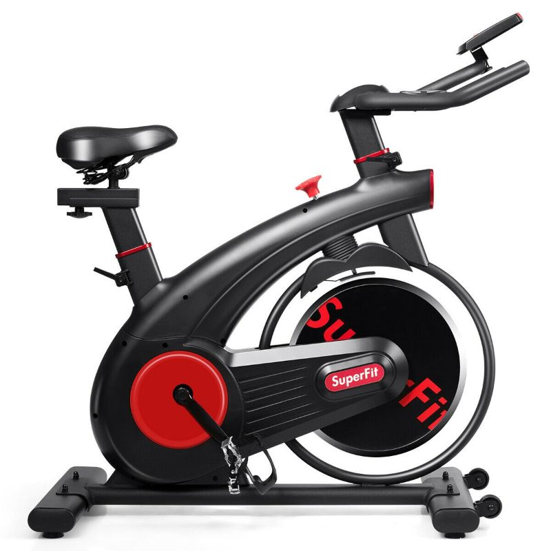 SuperFit Stationary Silent Belt Exercise Bike