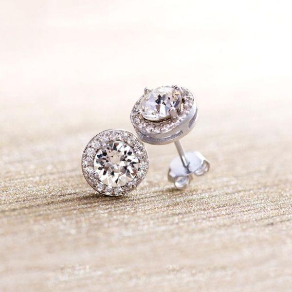 Daily Steals-Swarovski Crystals Round Cut Halo Drop Earrings-Jewelry-Silver-Stud-