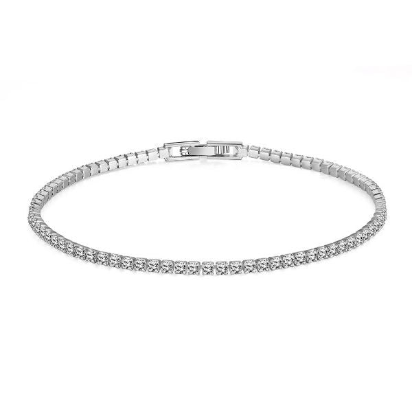 10.00 CT Classic Tennis Bracelet Made with Swarovski Crystals-Silver-Daily Steals