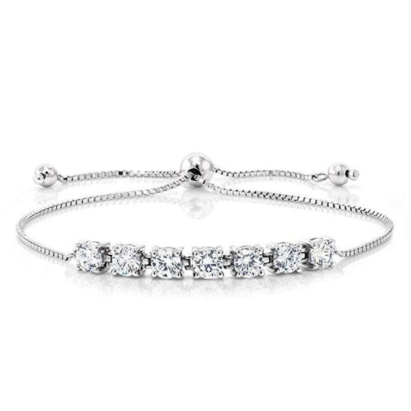 7.00 CT Diamond Created Adjustable Bracelet Made with Swarovski Crystals-Daily Steals